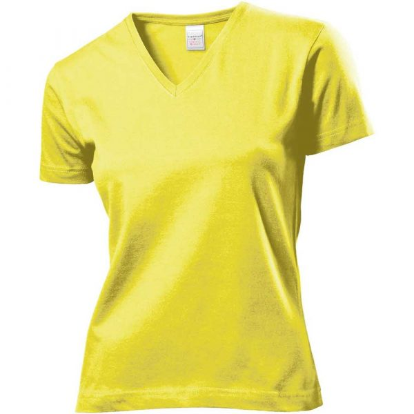 T Shirt 2 alibiuro.pl T SHIRT V NECK DAMSKI SST2700_YELS 7