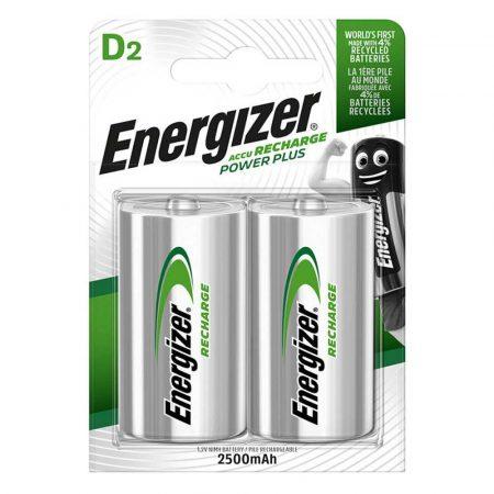 ładowarki 4 alibiuro.pl Akumulator ENERGIZER Power Plus D HR20 1 2V 2500mAh 2szt. 75