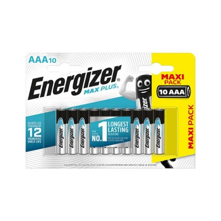 ładowarki do akumulatorów 4 alibiuro.pl Bateria ENERGIZER Max Plus AAA LR03 1 5V 10szt. 12