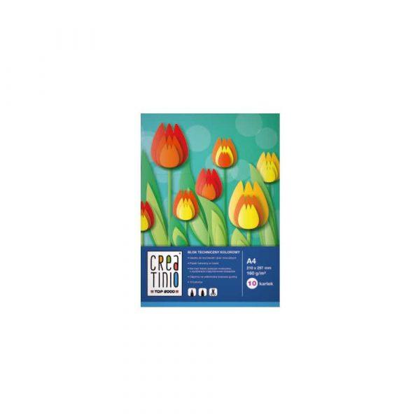 akcesoria biurowe 1 alibiuro.pl A4 10 kartek blok techniczny 160 g Creatino TOP 2000 400079851 kolorowy 75