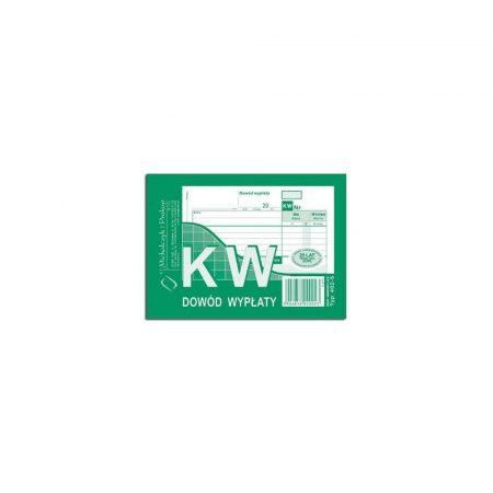akcesoria biurowe 1 alibiuro.pl KW dowód wypłaty A6 samokopiujący 80 k MIP 402 5 41