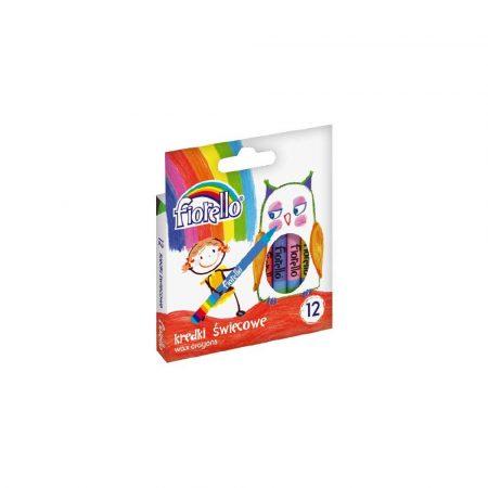 akcesoria biurowe 1 alibiuro.pl Kredki świecowe 12 kolorów Fiorello 170 1383 49