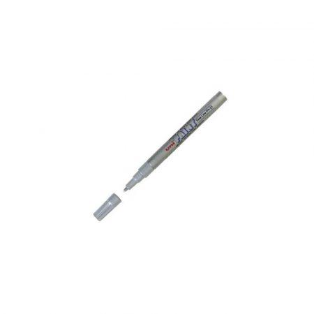 akcesoria biurowe 1 alibiuro.pl PX 21 Marker lakierowy okrągły cienki Paint 0 8 1 2mm UNI srebrny 14