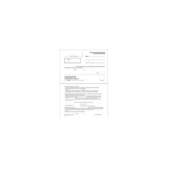 akcesoria biurowe 1 alibiuro.pl Zwrotne potwierdzenie odbioru A6 K100 Stolgraf bloczek 100 kartek 4