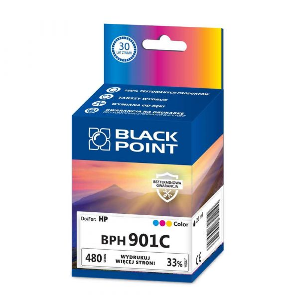 akcesoria biurowe 3 alibiuro.pl BPH901C Ink Tusz BP HP CC656AE BlackPoint BPH901C SGH0901BGKW 78
