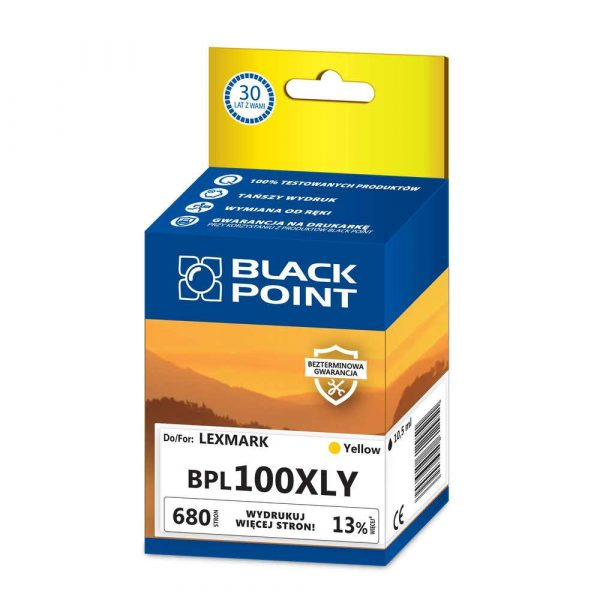 akcesoria biurowe 3 alibiuro.pl BPL100XLY Ink Tusz BP Lexmark BLIS BlackPoint BPL100XLY SGL100XLBKY 57