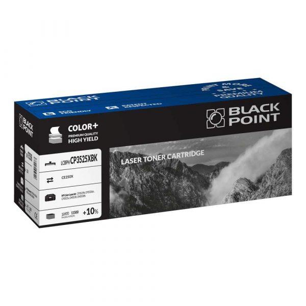 akcesoria biurowe 3 alibiuro.pl LCBPHCP3525XBK Toner BP HP CE250X BlackPoint LCBPHCP3525XBK BLH3525BKHW 58
