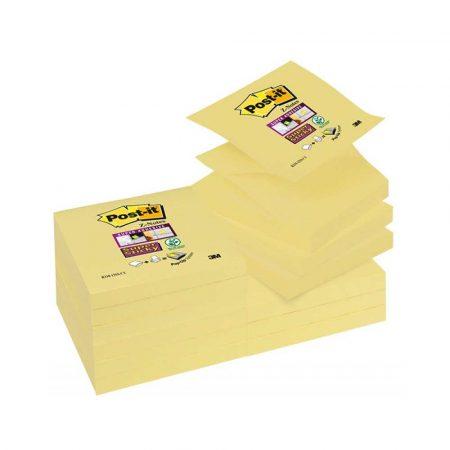 akcesoria biurowe 4 alibiuro.pl Bloczek samoprzylepny POST IT Super sticky Z Notes R330 12SS CY 76x76mm 1x90 kart. żółty 67