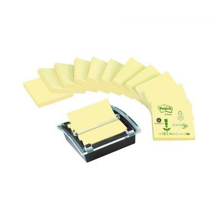 akcesoria biurowe 4 alibiuro.pl Bloczki ekologiczne POST IT Z Notes C2014Y12 1 76x76mm 12x100 kart. żółte podajnik GRATIS 2
