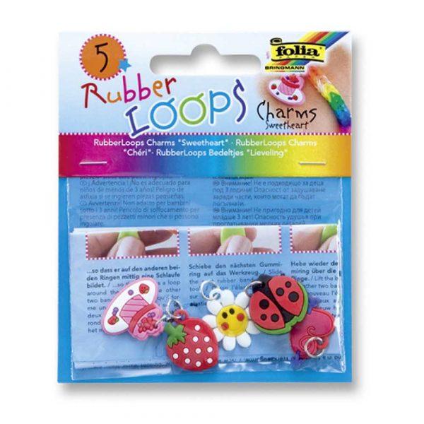 akcesoria biurowe 4 alibiuro.pl Charmsy RUBBER LOOPS SWEETHEART 5szt. mix kolorów 13