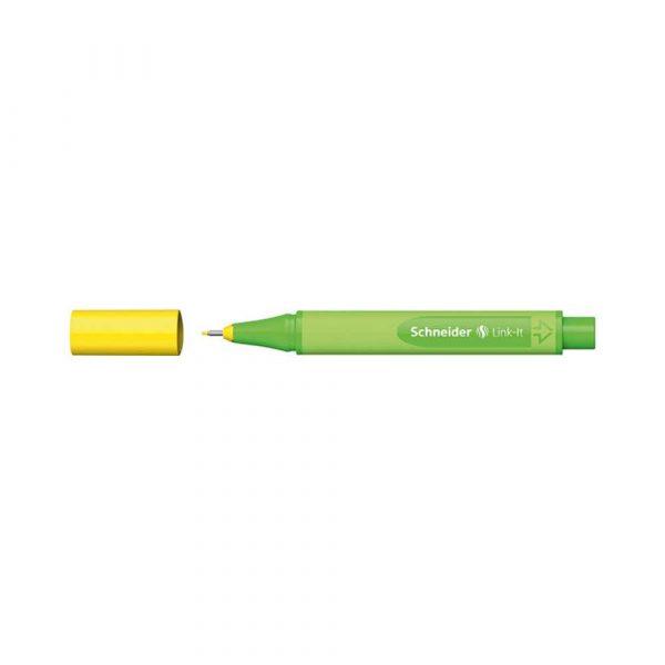 akcesoria biurowe 4 alibiuro.pl Cienkopis SCHNEIDER Link It 0 4mm żółty 69