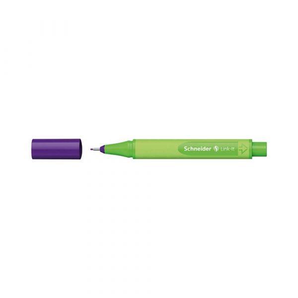 akcesoria biurowe 4 alibiuro.pl Cienkopis SCHNEIDER Link It 0 4mm ciemnofioletowy 65