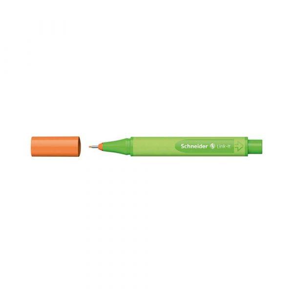 akcesoria biurowe 4 alibiuro.pl Cienkopis SCHNEIDER Link It 0 4mm pomarańczowy 26