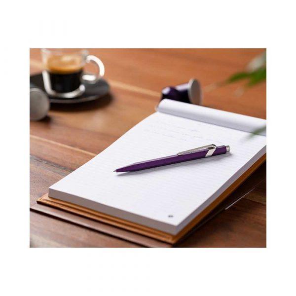 akcesoria biurowe 4 alibiuro.pl Długopis CARAN D Inch ACHE 849 Nespresso Arpeggio M w pudełku fioletowy 13