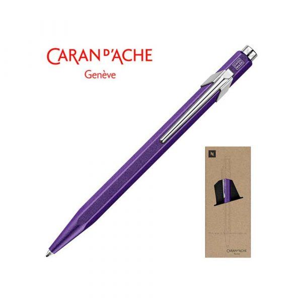 akcesoria biurowe 4 alibiuro.pl Długopis CARAN D Inch ACHE 849 Nespresso Arpeggio M w pudełku fioletowy 77