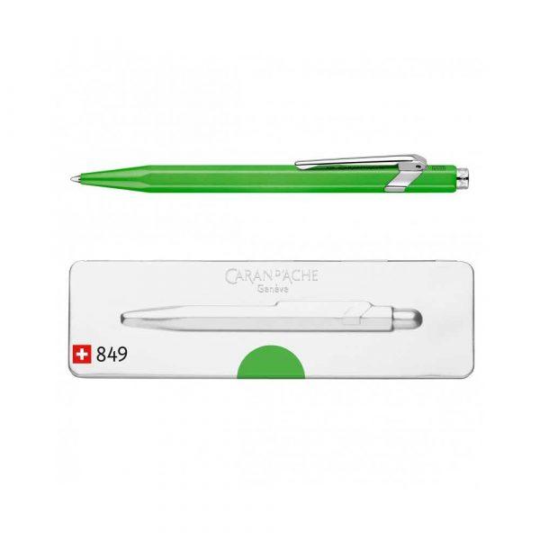 akcesoria biurowe 4 alibiuro.pl Długopis CARAN D Inch ACHE 849 Pop Line Fluo M w pudełku zielony 24