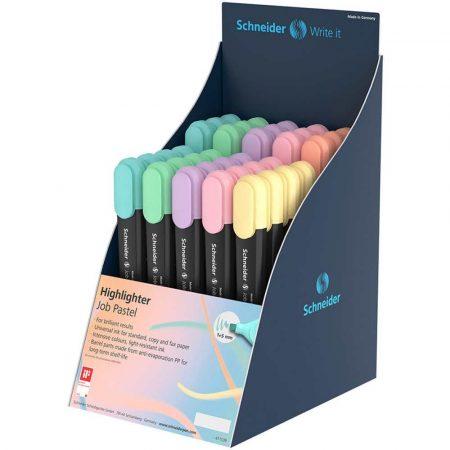 akcesoria biurowe 4 alibiuro.pl Display zakreślaczy SCHNEIDER Job Pastel 1 5 mm 35 szt. mix kolorów 5