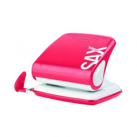 akcesoria biurowe 4 alibiuro.pl Dziurkacz SAXDesign 418 paperbox dziurkuje do 25 kartek czerwony 52