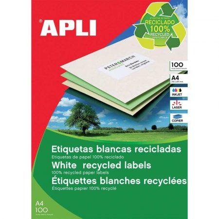 akcesoria biurowe 4 alibiuro.pl Etykiety ekologiczne APLI 105x37mm prostokątne białe 99