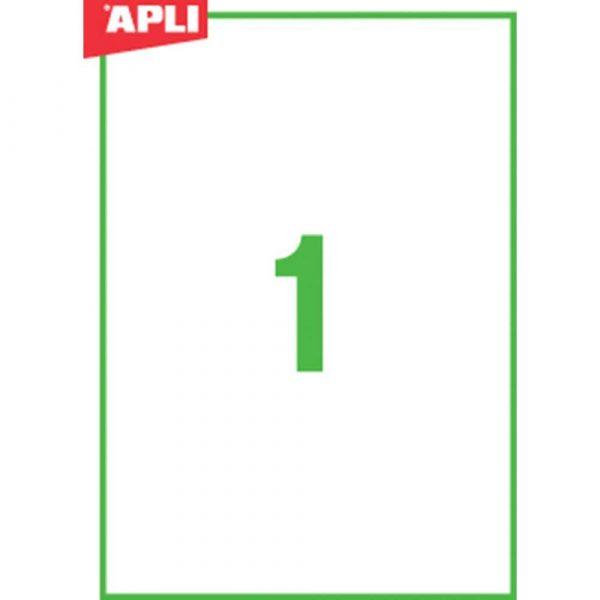 akcesoria biurowe 4 alibiuro.pl Etykiety ekologiczne APLI 210x297mm prostokątne białe 52