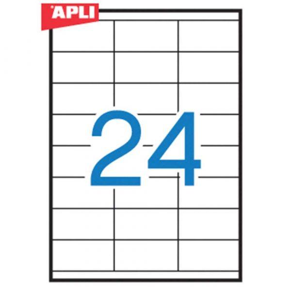 akcesoria biurowe 4 alibiuro.pl Etykiety uniwersalne APLI 70x35mm prostokątne białe 100 ark. 73
