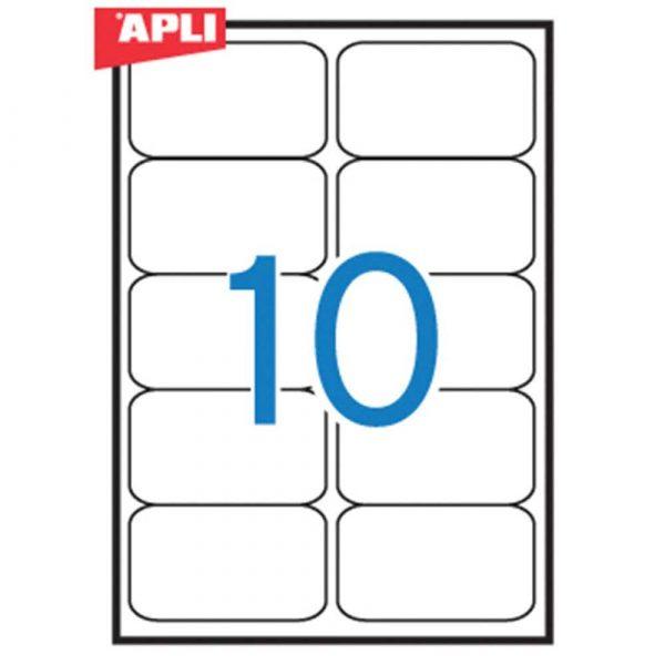 akcesoria biurowe 4 alibiuro.pl Etykiety uniwersalne APLI 99 1x57mm zaokrąglone białe 100 ark. 12