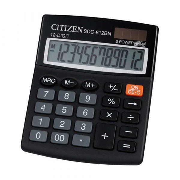 akcesoria biurowe 4 alibiuro.pl Kalkulator biurowy CITIZEN SDC 812NR 12 cyfrowy 127x105mm czarny 41