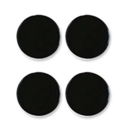 akcesoria biurowe 4 alibiuro.pl Magnesy do tablic NOBO 30mm 4szt czarne 26