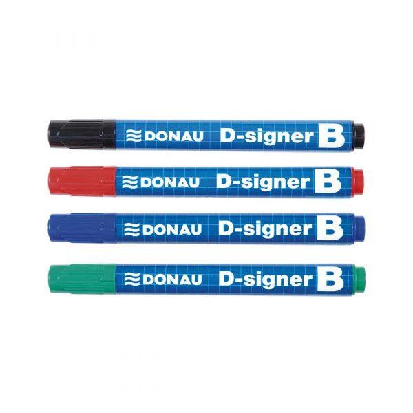 akcesoria biurowe 4 alibiuro.pl Marker do tablic DONAU D Signer B okrągły 2 4mm linia czarny 63