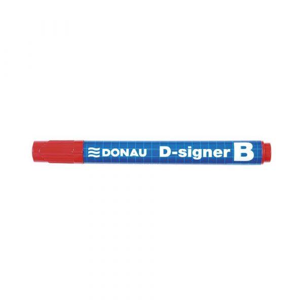 akcesoria biurowe 4 alibiuro.pl Marker do tablic DONAU D Signer B okrągły 2 4mm linia czerwony 28