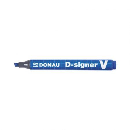 akcesoria biurowe 4 alibiuro.pl Marker permanentny DONAU D Signer V ścięty 1 4mm linia niebieski 31