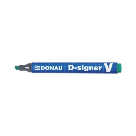 akcesoria biurowe 4 alibiuro.pl Marker permanentny DONAU D Signer V ścięty 1 4mm linia zielony 95
