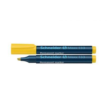 akcesoria biurowe 4 alibiuro.pl Marker permanentny SCHNEIDER Maxx 133 ścięty 1 4mm żółty 28