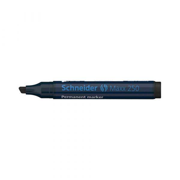 akcesoria biurowe 4 alibiuro.pl Marker permanentny SCHNEIDER Maxx 250 ścięty 2 7mm czarny 62
