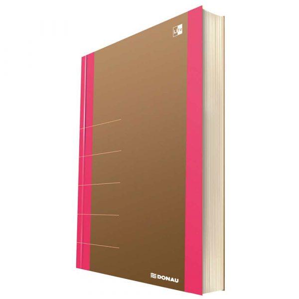 akcesoria biurowe 4 alibiuro.pl Notatnik DONAU Life organizer 165x230mm 80 kart. różowy 93