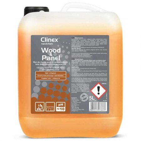 akcesoria biurowe 4 alibiuro.pl Płyn do mycia drewnianych podłóg i paneli CLINEX Wood Panel 5L skoncentrowany 84