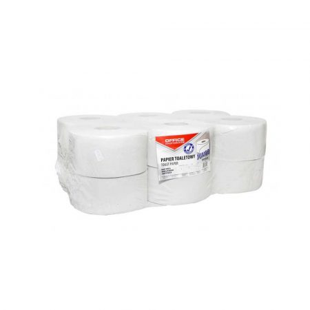 akcesoria biurowe 4 alibiuro.pl Papier toaletowy makulaturowy OFFICE PRODUCTS Jumbo 1 warstwowy 120m 12szt. biały 18