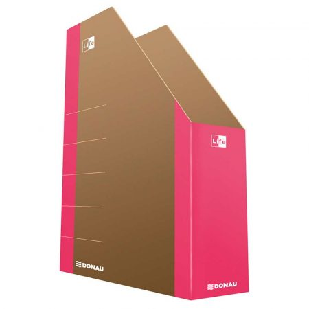 akcesoria biurowe 4 alibiuro.pl Pojemnik na dokumenty DONAU Life karton A4 różowy 43