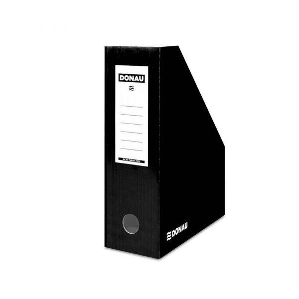 akcesoria biurowe 4 alibiuro.pl Pojemnik na dokumenty DONAU karton ścięty A4 100mm lakierowany czarny 3