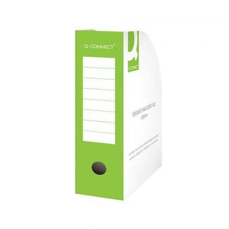 akcesoria biurowe 4 alibiuro.pl Pojemnik na dokumenty Q CONNECT karton otwarte A4 100mm zielone 55