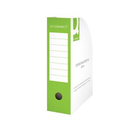 akcesoria biurowe 4 alibiuro.pl Pojemnik na dokumenty Q CONNECT karton otwarte A4 80mm zielone 29