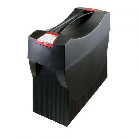 akcesoria biurowe 4 alibiuro.pl Pojemnik na teczki zawieszkowe HAN Swing Plus polistyren A4 z wiekiem czarny 42