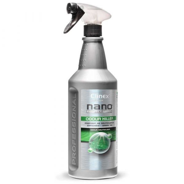 akcesoria biurowe 4 alibiuro.pl Preparat do neutralizacji zapachów CLINEX Nano Protect Silver Odour Killer 1L green tea 38