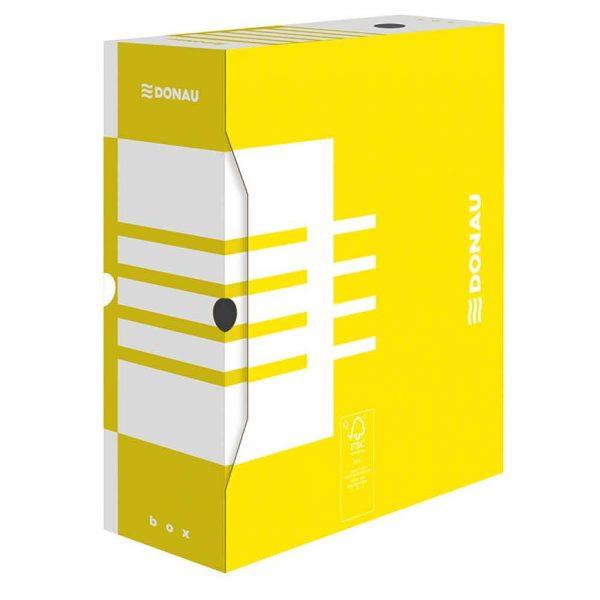 akcesoria biurowe 4 alibiuro.pl Pudło archiwizacyjne DONAU karton A4 120mm żółte 43