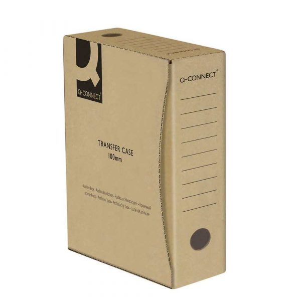 akcesoria biurowe 4 alibiuro.pl Pudło archiwizacyjne Q CONNECT karton A4 100mm szare 79