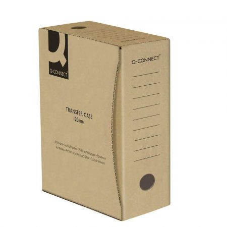 akcesoria biurowe 4 alibiuro.pl Pudło archiwizacyjne Q CONNECT karton A4 120mm szare 83