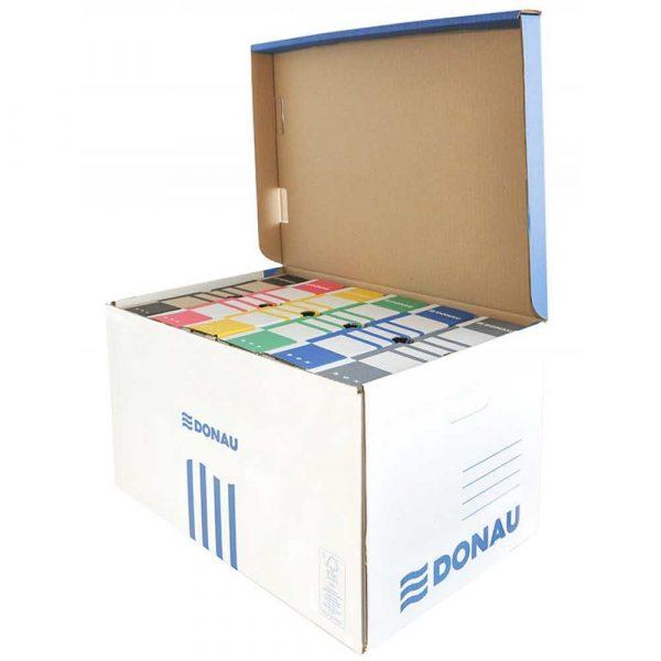 akcesoria biurowe 4 alibiuro.pl Pudło archiwizacyjne wzmocnione DONAU karton zbiorcze górne niebieskie 35