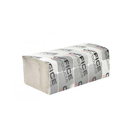 akcesoria biurowe 4 alibiuro.pl Ręczniki składane ZZ makulaturowe ekonomiczne OFFICE PRODUCTS 1 warstwowe 4000 listków 20szt. szare 73