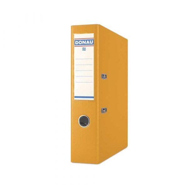 akcesoria biurowe 4 alibiuro.pl Segregator DONAU Premium PP A4 75mm pomarańczowy 25