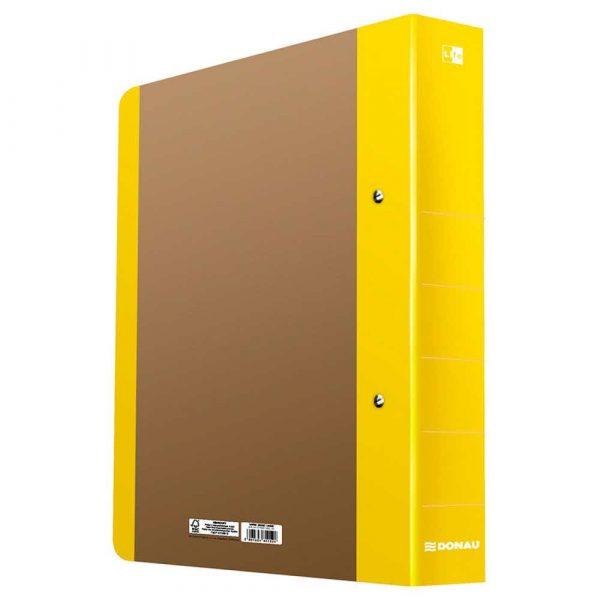 akcesoria biurowe 4 alibiuro.pl Segregator ringowy DONAU Life A4 2RD 50mm żółty 8